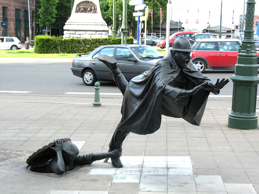 statue belle De Vaartkapoen, Brussels, Belgio