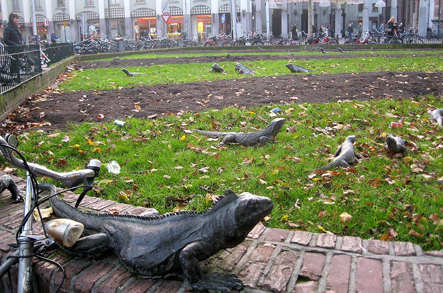 statue belle Iguana Park