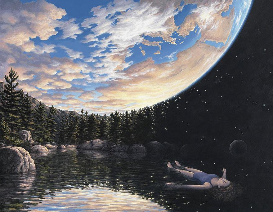 dipinti illusioni ottiche