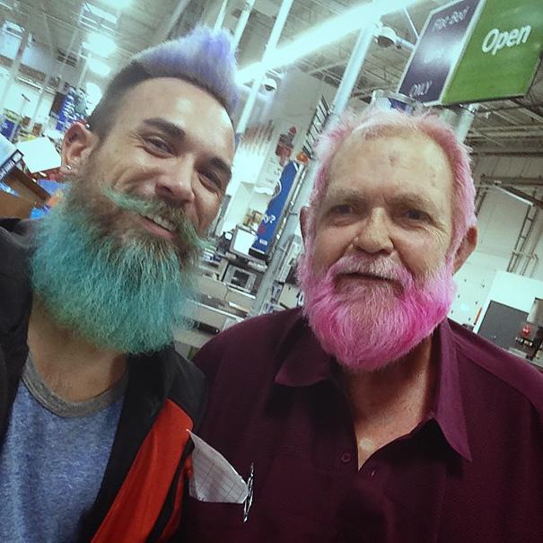 barba e capelli tinti