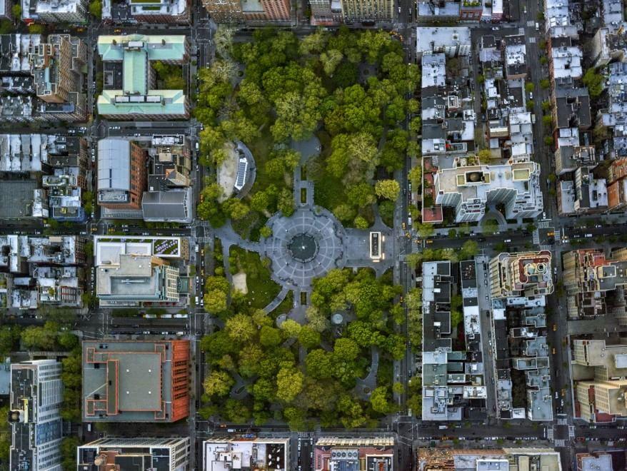 La geometria di los angeles e new york viste dall 39 alto in for New york dall alto
