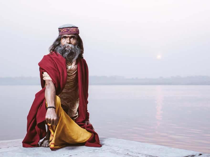 uomini sacri di varanasi