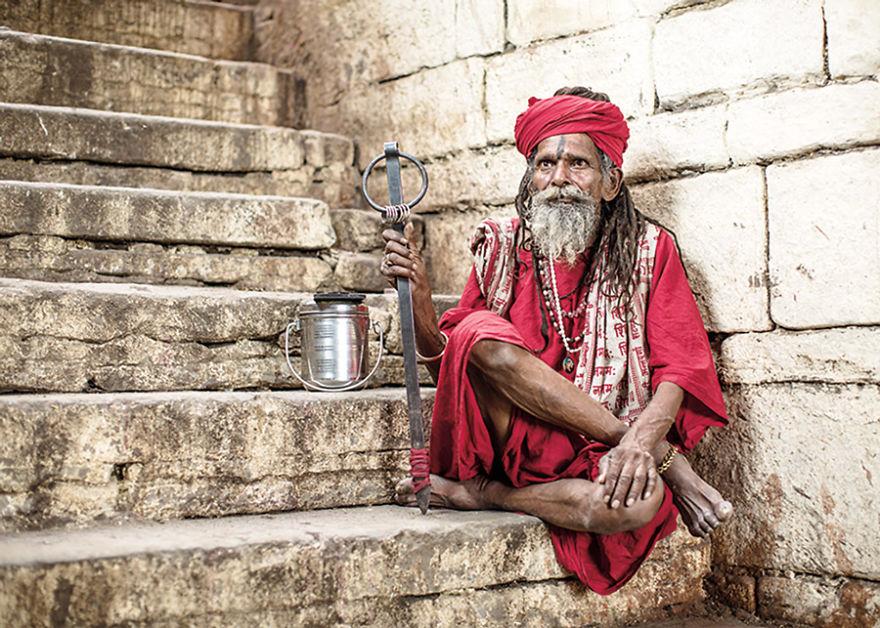 uomini sacri di varanasi Lal Miti Sidr Baba