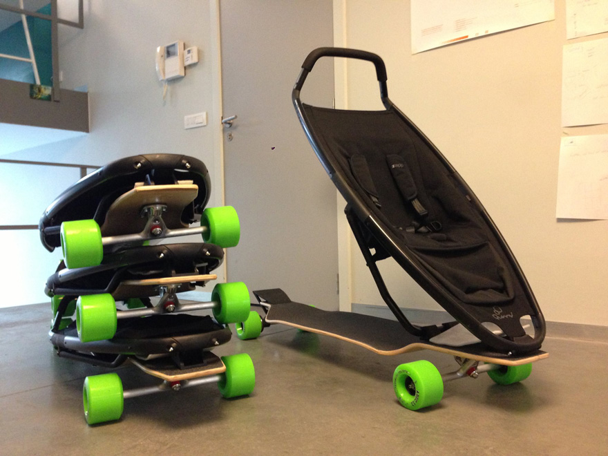 passeggino skateboard