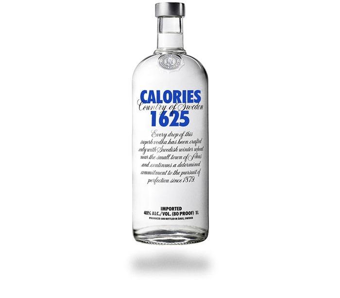 Calorie bottiglia di vodka