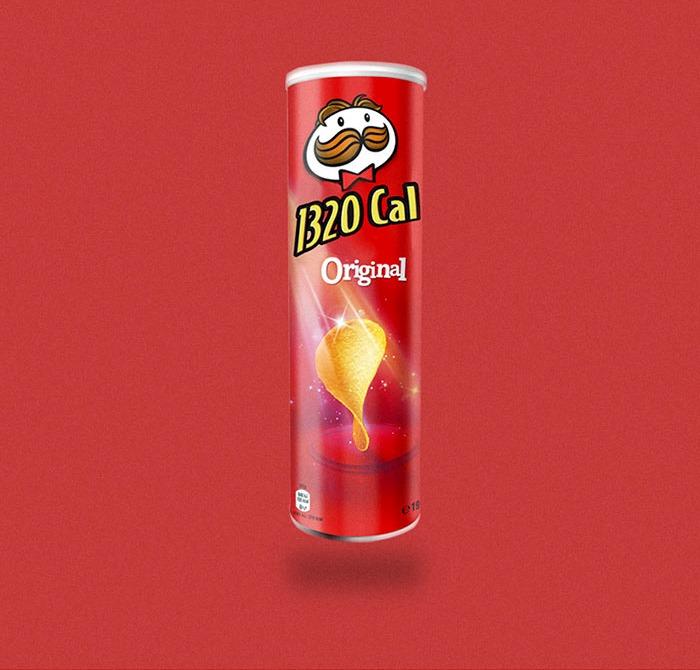 Calorie tubo di Pringles