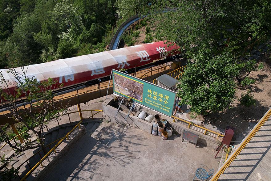 Sotto alla grande muraglia cinese