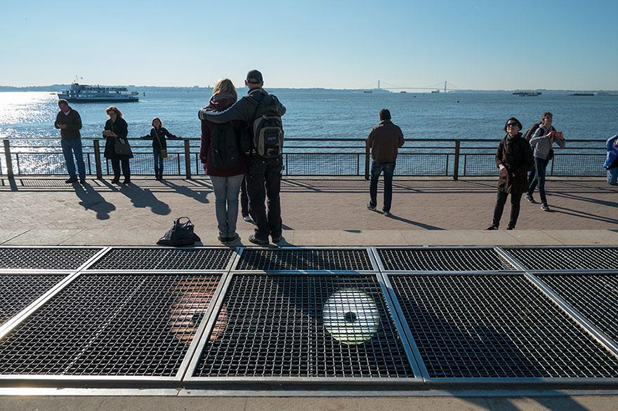 Mare davanti alla Statua della libertà