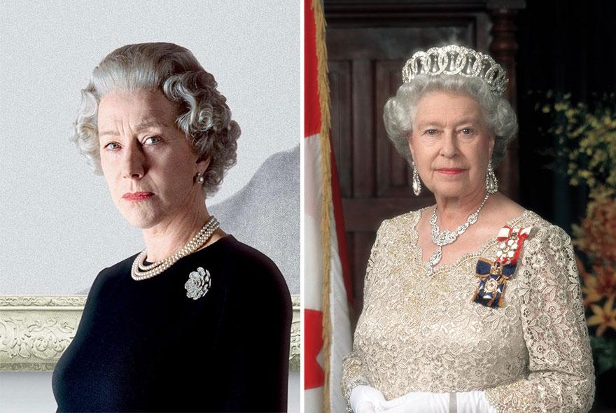 Hellen Mirren che interpreta la Regina Elisabetta II in The Queen - La regina