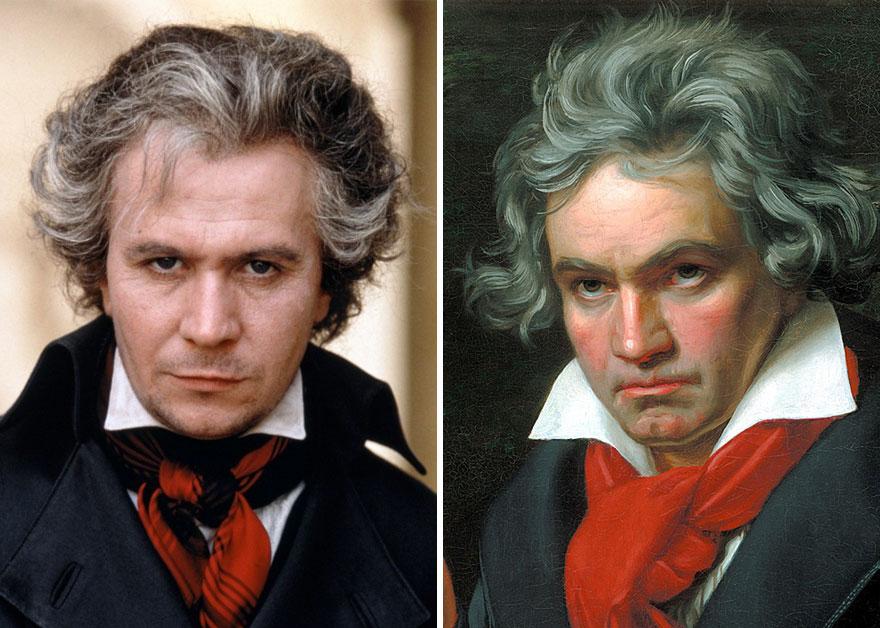 Gary Oldman che interpreta Ludwig Van Beethoven in Amante Immortale