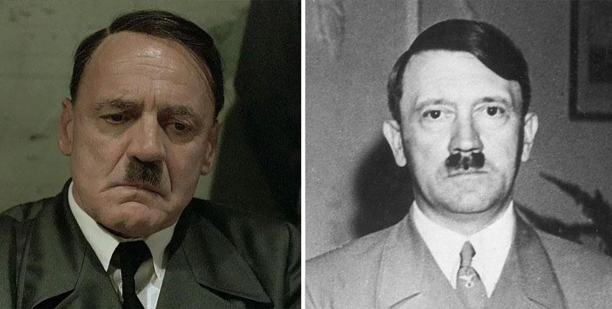 Bruno Ganz che interpreta Adolf Hitler in Downfall