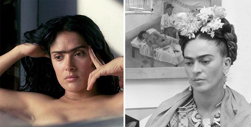 Salma Hayek che interpreta Frida Kahlo In Frida