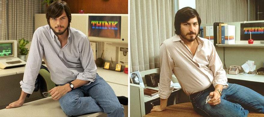 Ashton Kutcher che interpreta Steve Jobs In Jobs