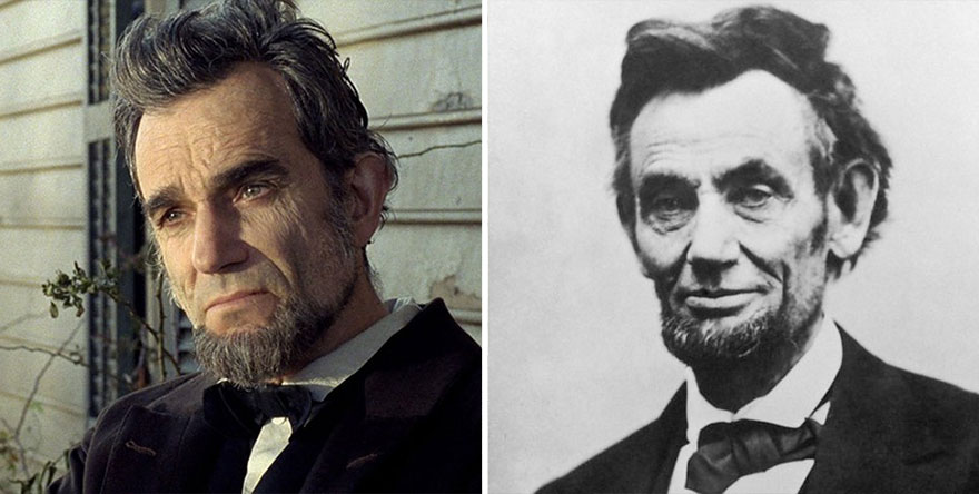 Daniel Day‑Lewis che interpreta Abraham Lincoln in Lincoln