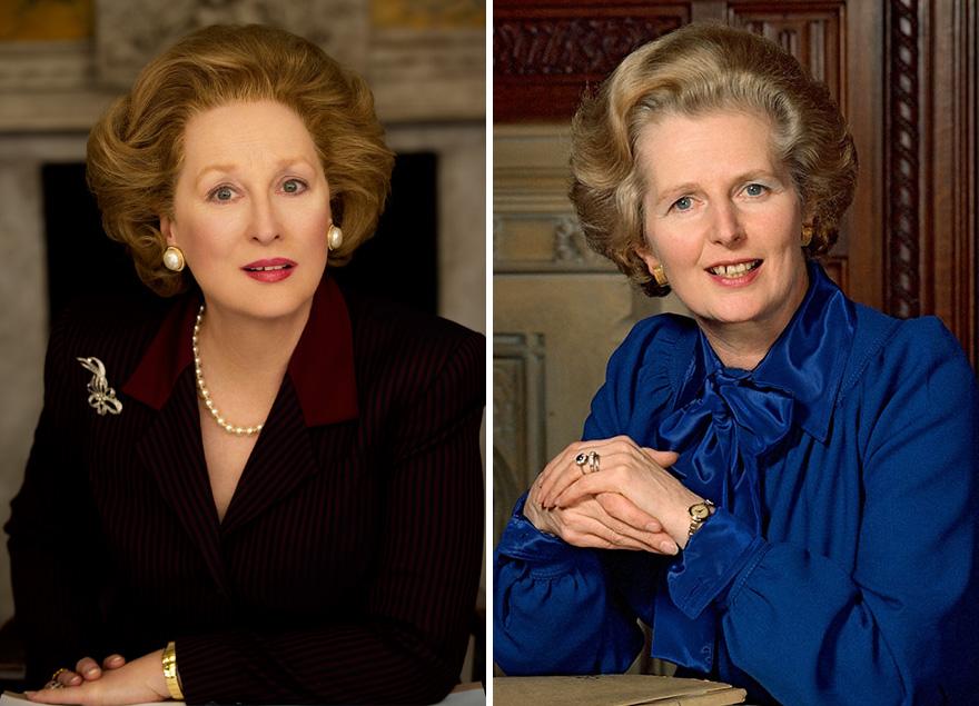 Meryl Streep che interpreta Margaret Thatcher in The Iron Lady