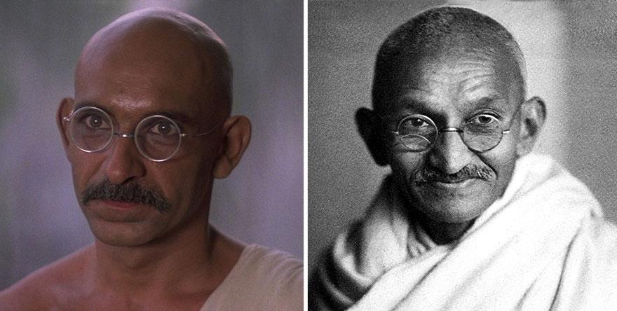 Ben Kingsley che interpreta Mohandas Karamchand Gandhi In Gandhi