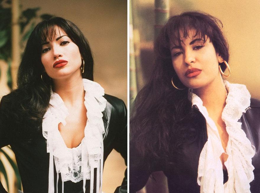Jennifer Lopez che interpreta Selena Quintanilla-Pérez In Selena