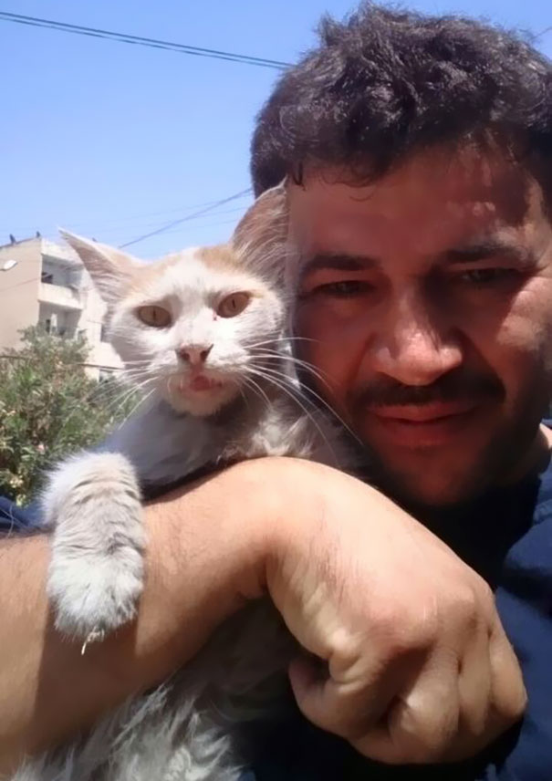 uomo dei gatti di Aleppo