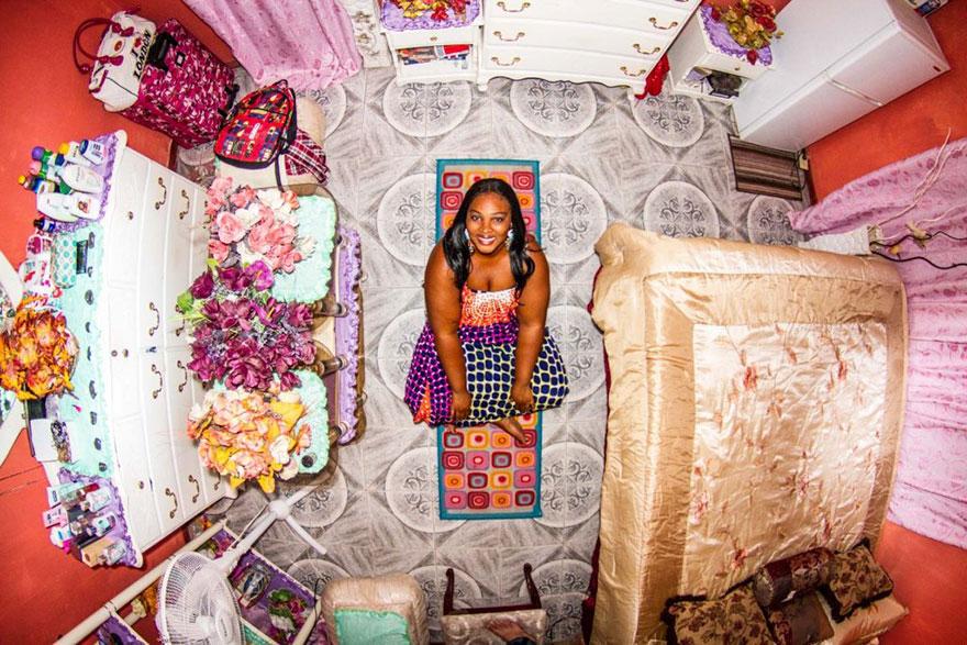 Camera da letto di una ragazza giamaicana
