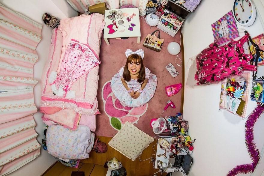 Camera da letto di una ragazza giapponese