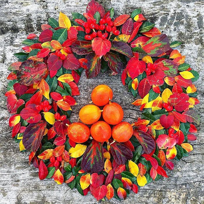 ochiba art, arte delle foglie cadute