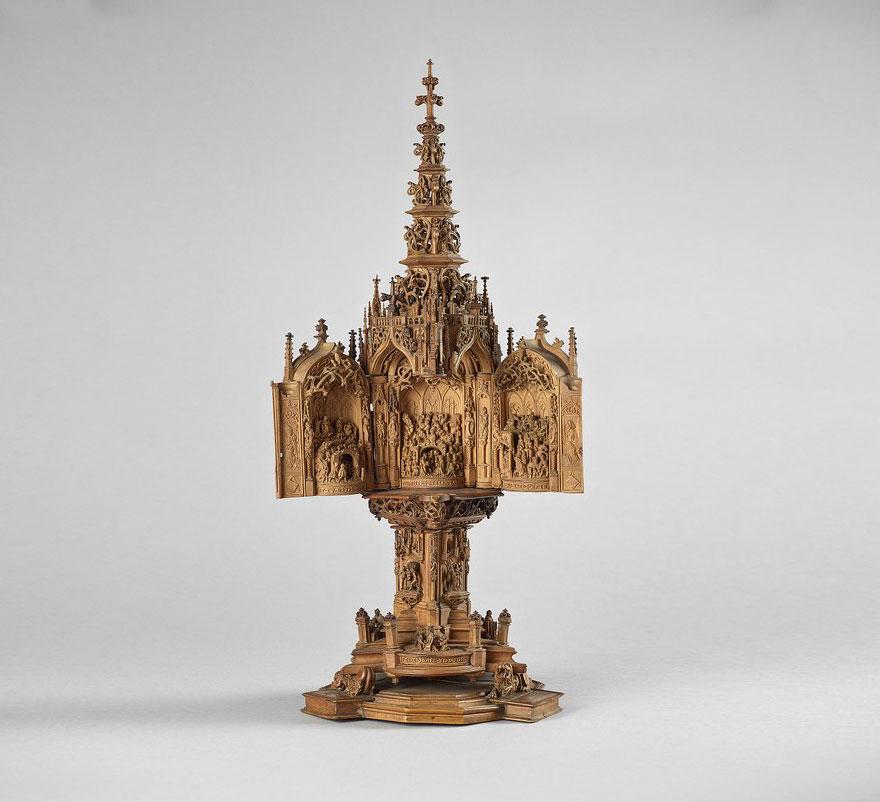 intagli nel legno 16esimo secolo miniature