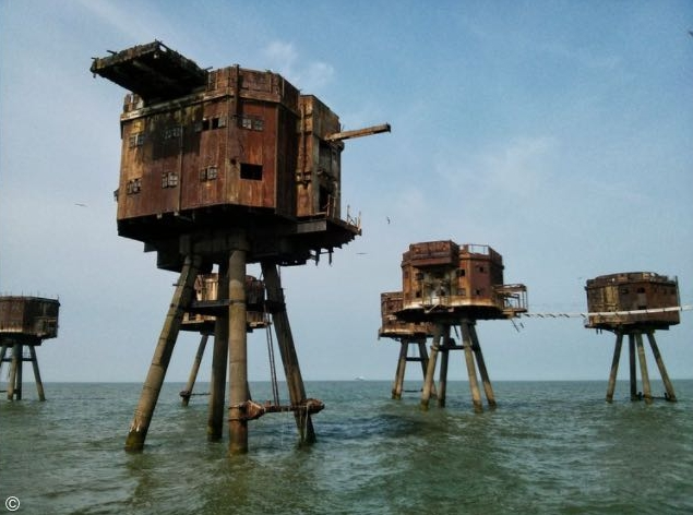 Fortezze marittime Maunsell, Gran Bretagna