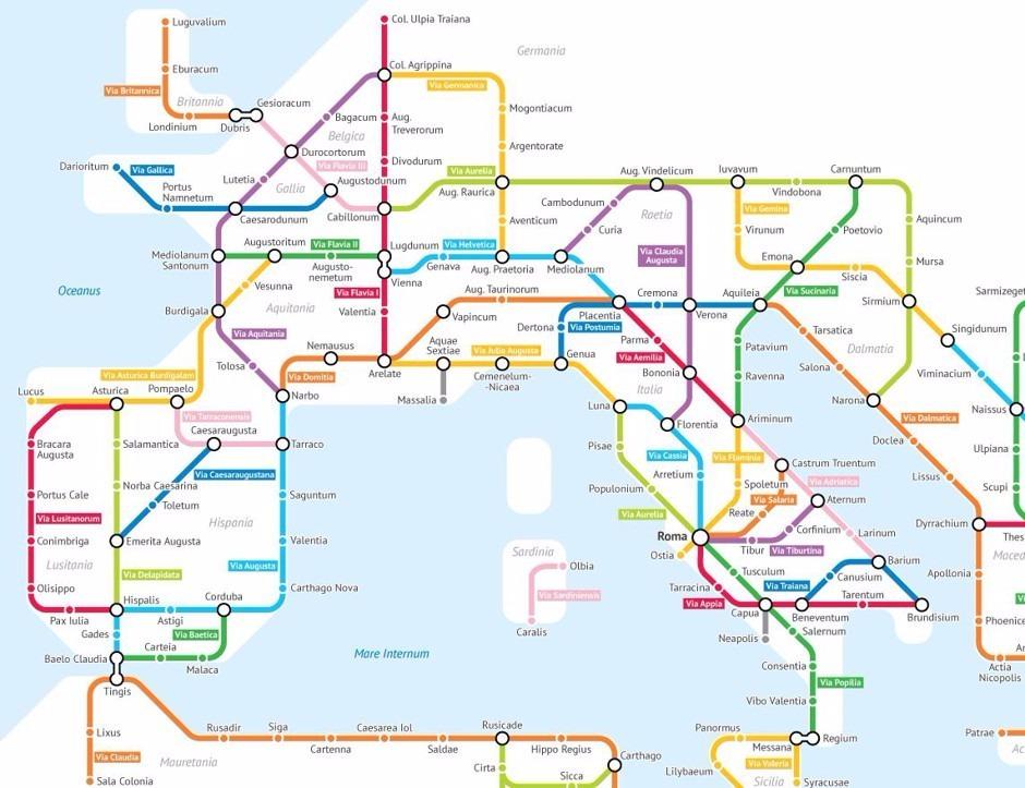 Metropolitana d'Europa antiche strade romane