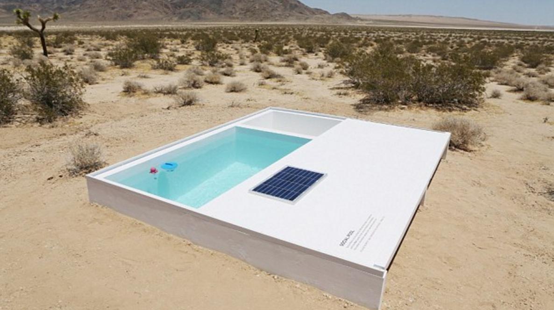 piscina segreta nel deserto