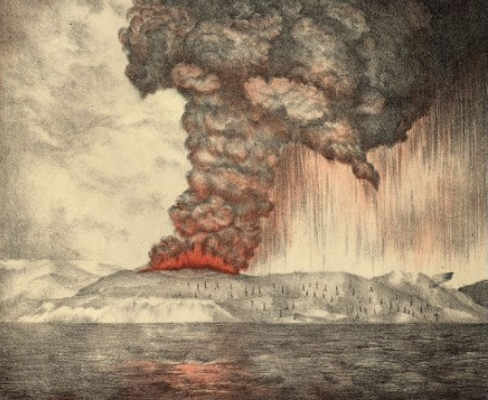 eruzione del krakatoa 1883