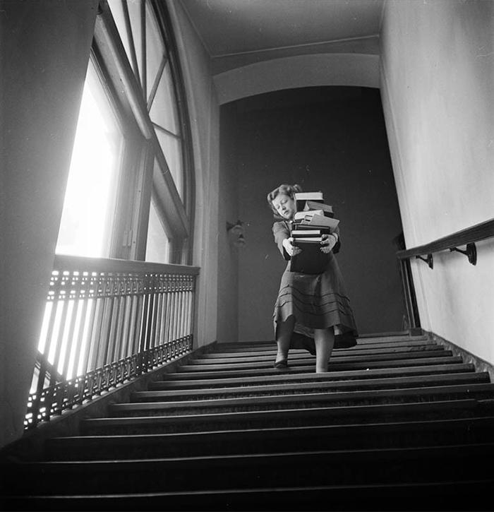 Studentessa alla Columbia University, 1948