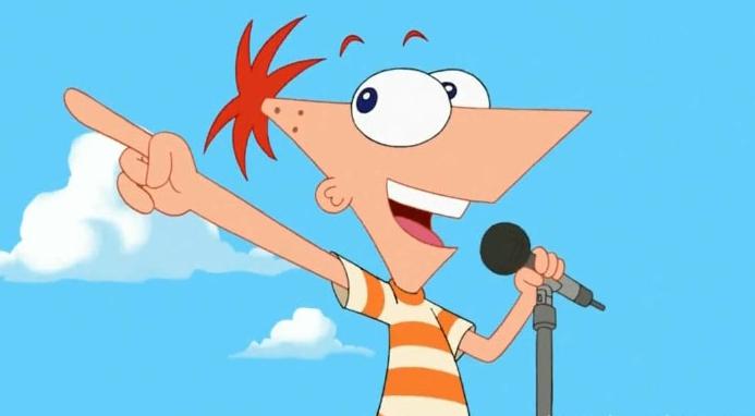 Phineas che non avrebbe potuto in nessun modo infilarsi quella maglietta