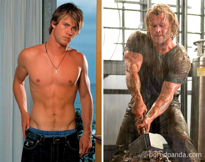 I muscoli di Chris Hemsworth per Thor