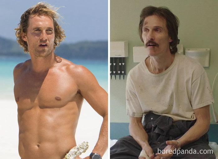 Matthew McConaughey prima e dopo Dallas Buyers Club