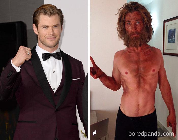 La trasformazione di Chris Hemsworth in The Heart of the Sea