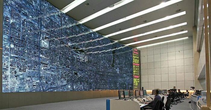 La stanza che controlla il traffico a Pechino
