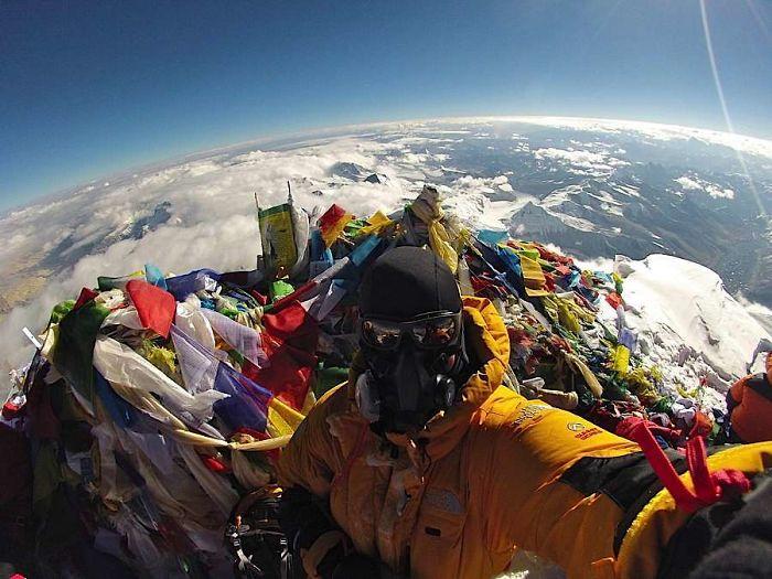 La visione dalla cima del monte Everest