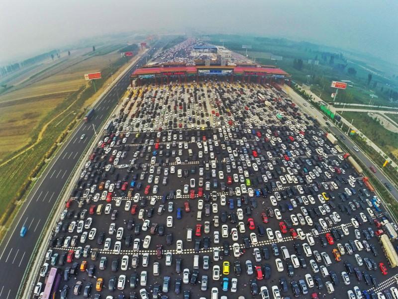 ingorgo stradale a Pechino