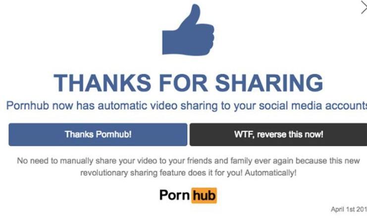 Pesce d'Aprile di Pornhub