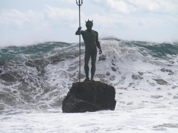 Statua di Nettuno a Gran canaria