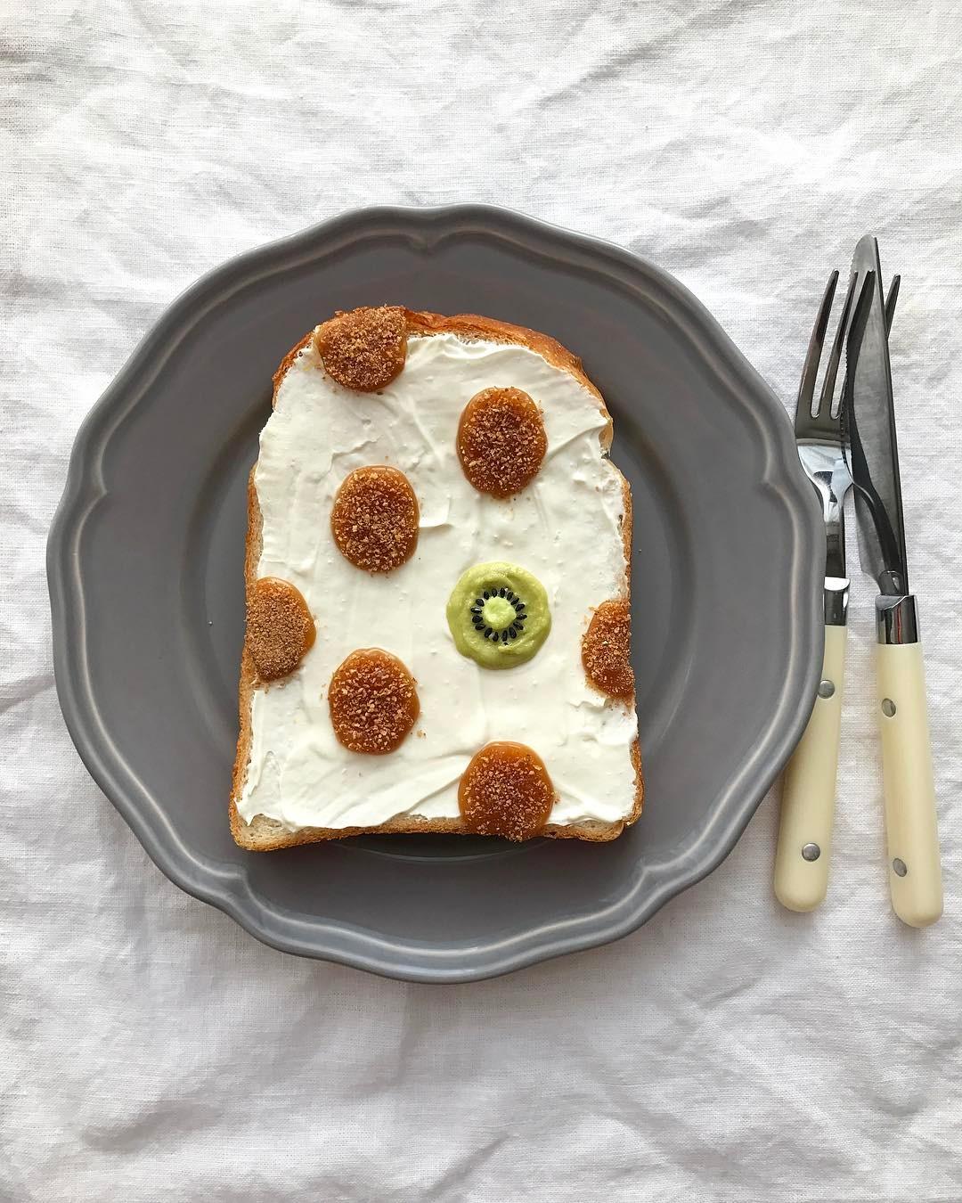 toast decorati di Eiko Mori