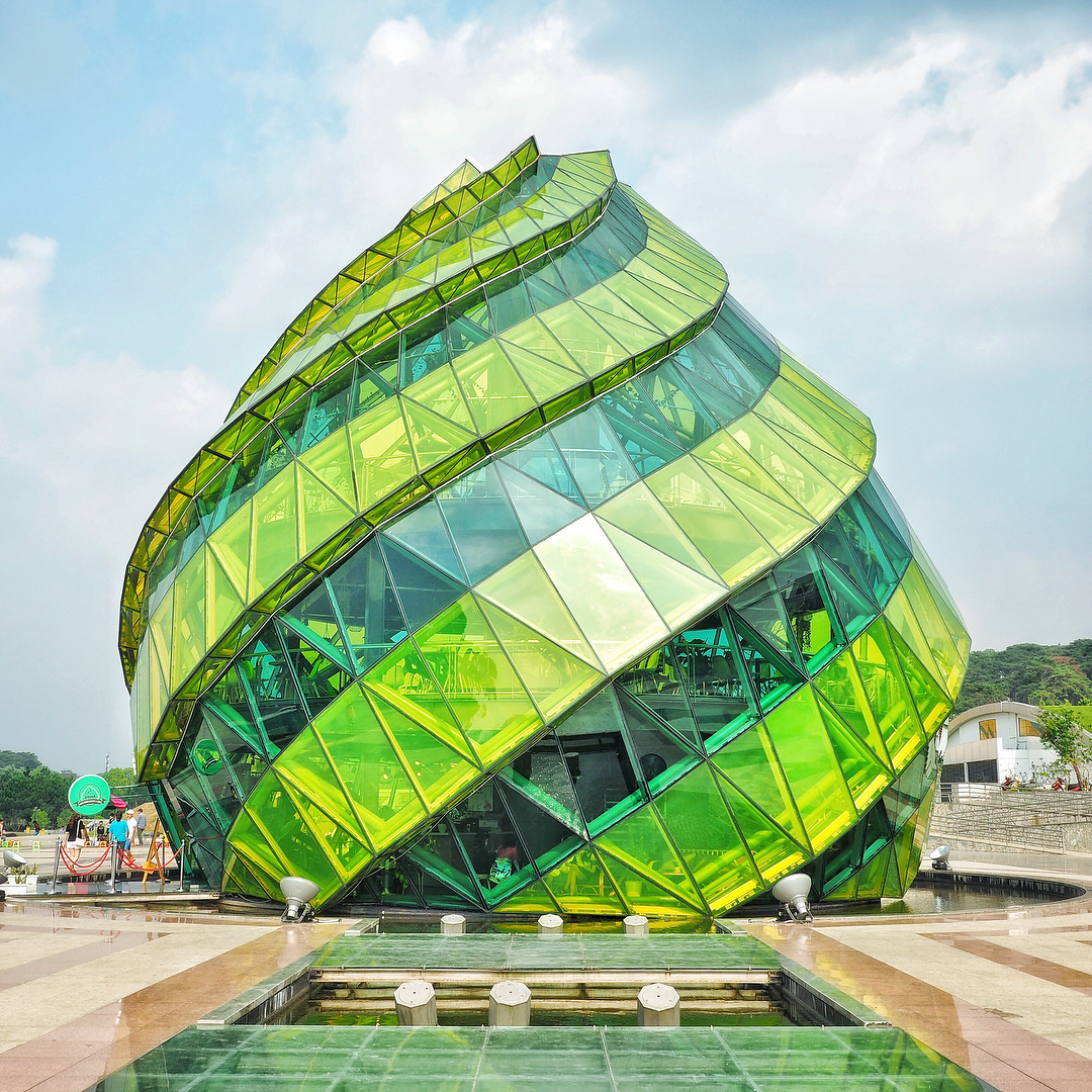 Café in Vietnam di vetro colorato