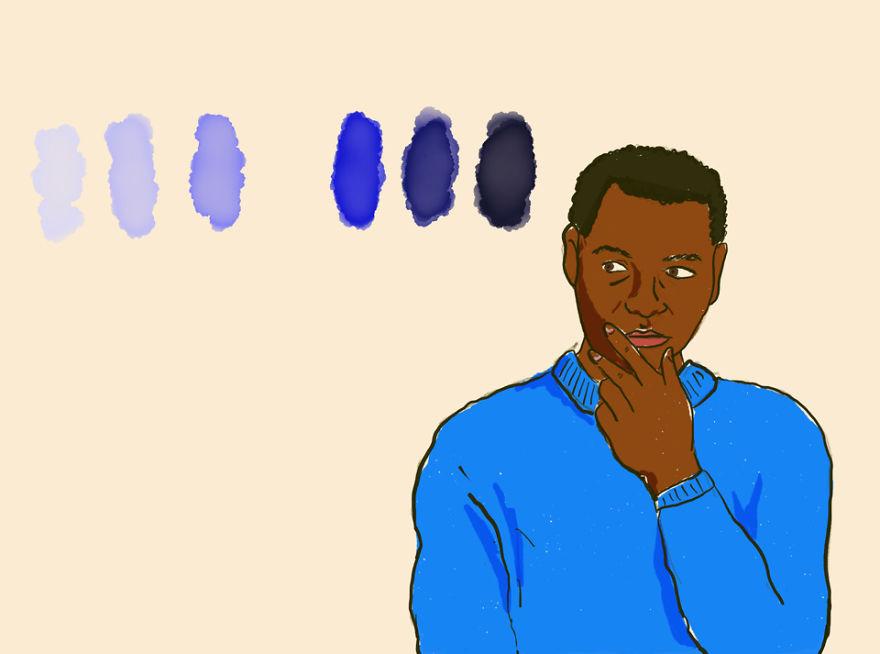 Esperimento concettuale della mancante sfumatura di blu