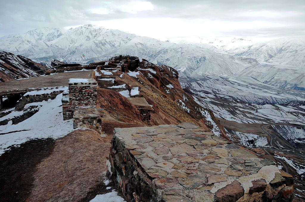 La vista dalle rovine di Alamut