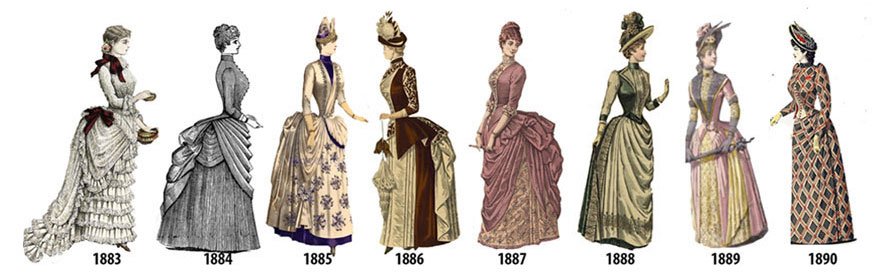 La moda femminile negli anni