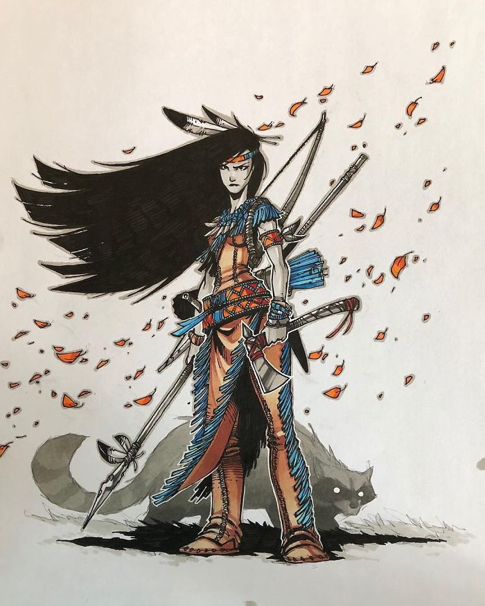 Pocahontas guerriera