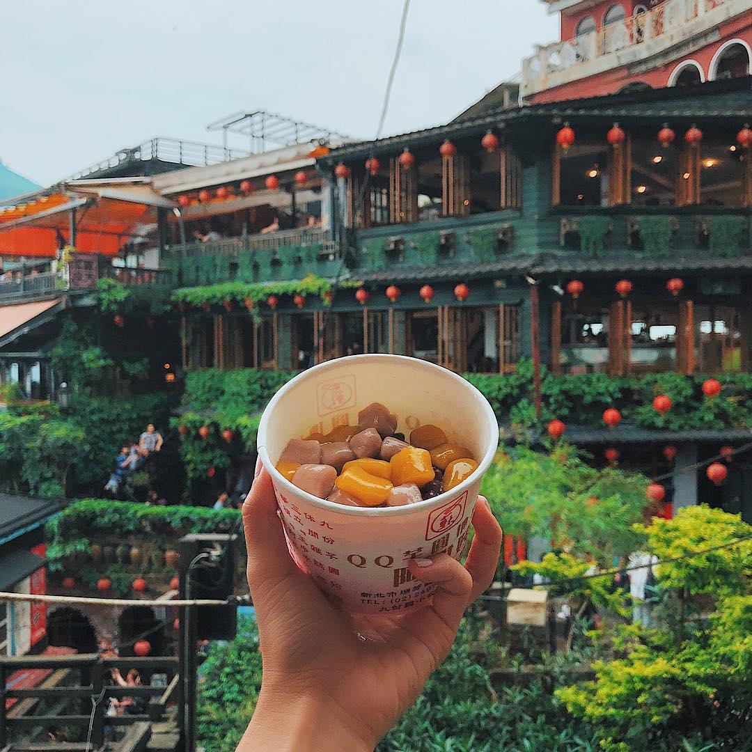 Dolce Taro di palle di Riso a JiuFen Old Street, Taiwan