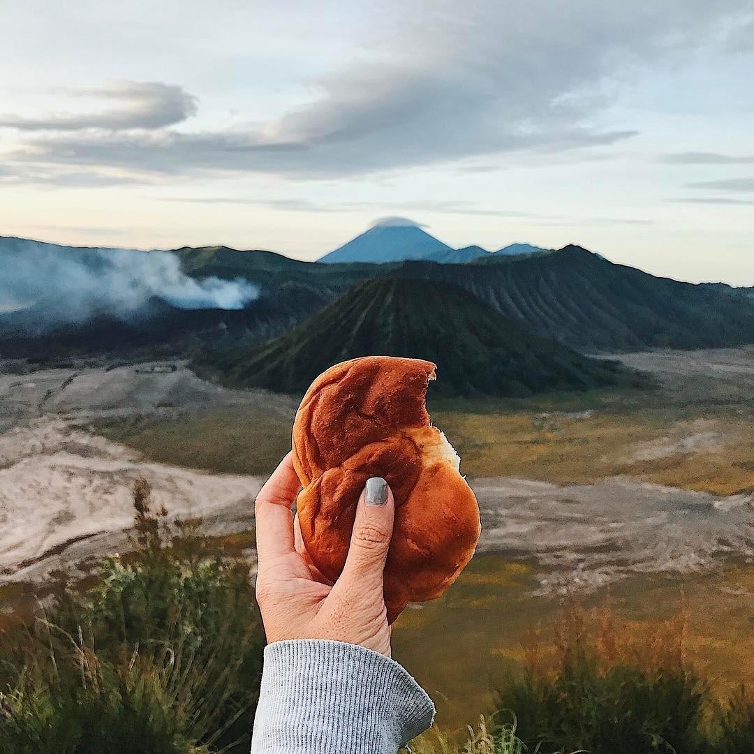 Colazione al Monte Bromo, Indonesia