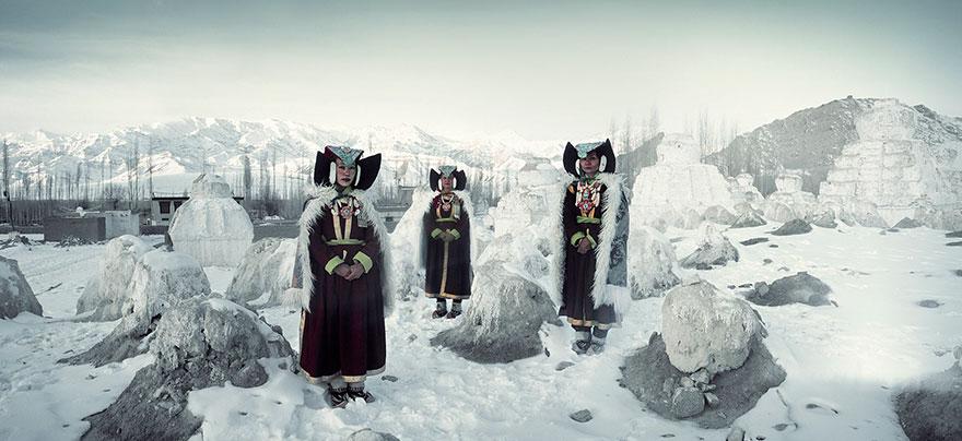 Donne Perak,  Monastero Thikse, Ladakh, India