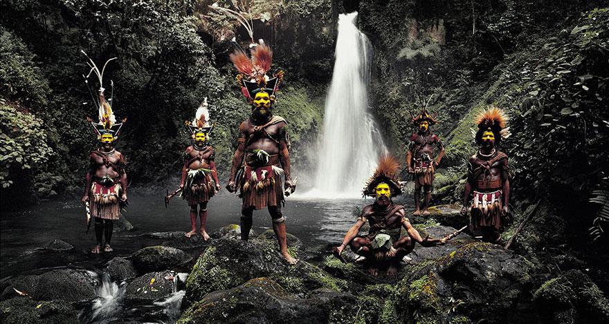 Huli, Cascate Ambua, Tari Valley, Papua Nuova Guinea